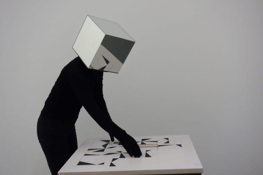 0+255, Performance Karen Linnenkohl, Meinblau Projektraum, 2019