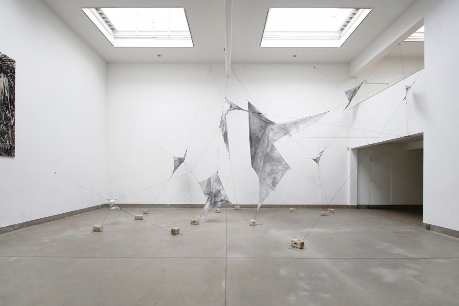Graumalerei, Installation, 0+255Bonn, Künstlerforum Bonn, 2019